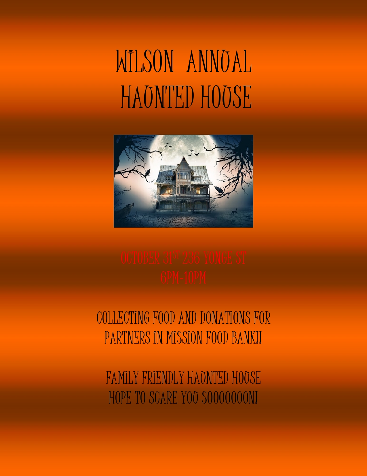 WILSON ANNUAL POSTER